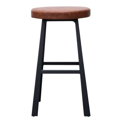 Egense Steel Round Counter Stool with PU Seat