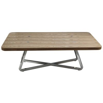 Cupio Wood and Stainless Steel 140cm Coffee Table
