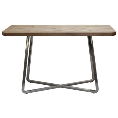 Cupio Wood and Stainless Steel Console Table