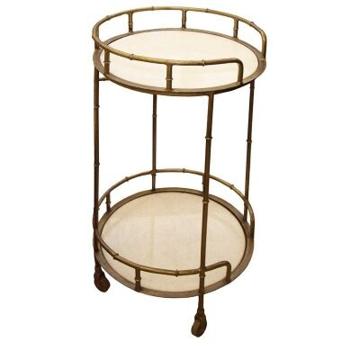 Connor Metal Round Drinks Trolley