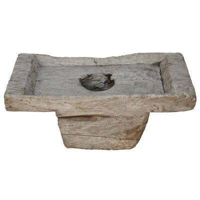 Horsley Artefact Old Wood Candle Holder