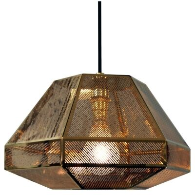 RTDC Perforated Metal Small Pendant Light - Gold
