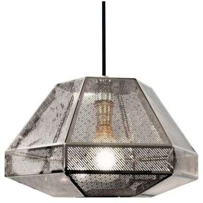 RTDC Perforated Metal Small Pendant Light - Chrome