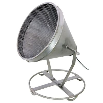 Foison Rustic Metal Cone Shape Search Light Table/Floor Lamp - Silver