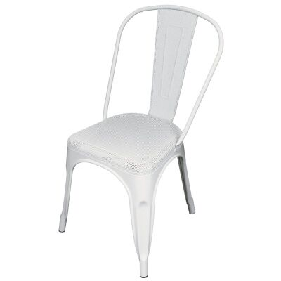 Weimar Perforated Metal Dining Chair - White