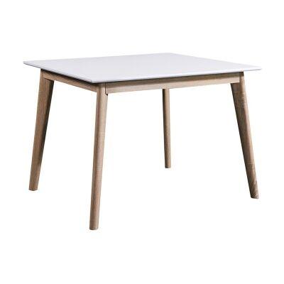 Otta Scandinavian Wooden Square Dining Table, 90cm
