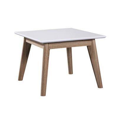 Otta Scandinavian Wooden Square Lamp Table