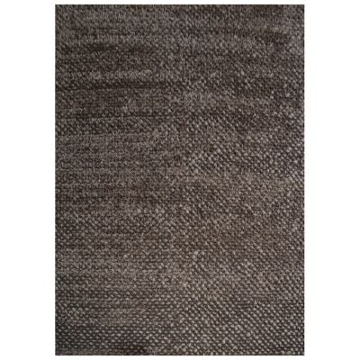 Bubble Modern Felted Wool Rug, 230x160cm, Charcoal