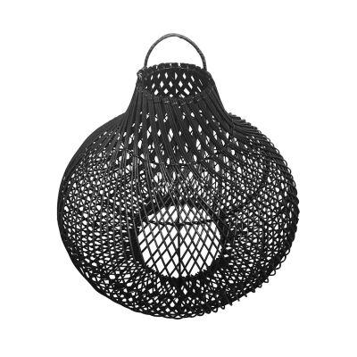Centong Rattan Hanging Lamp Shade, Black