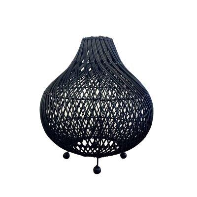 Centong Rattan Table Lamp Shade, Black