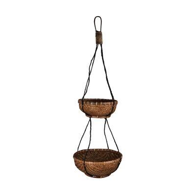 Dorsey Rattan Hanging Basket Planter