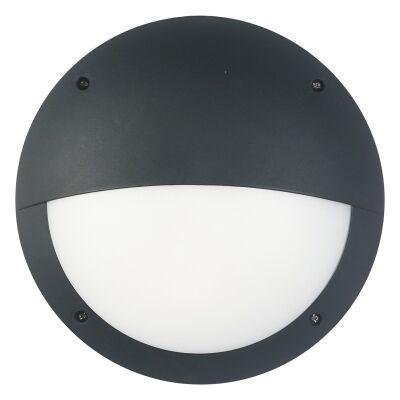 Prestons IP66 Exterior Eyelid LED Bunker Wall Light, Black