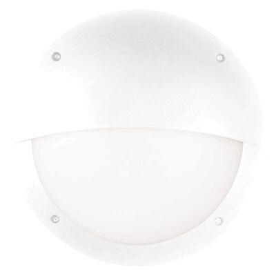 Prestons IP66 Exterior Eyelid LED Bunker Wall Light, White
