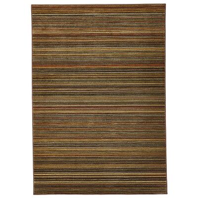 Byblos Stripe Egyptian Made Modern Rug, 230x160cm, Ochre / Brown