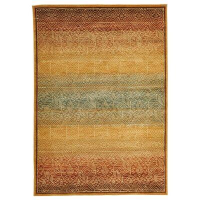 Byblos Tribal Egyptian Made Modern Rug, 290x200cm, Multi / Gold
