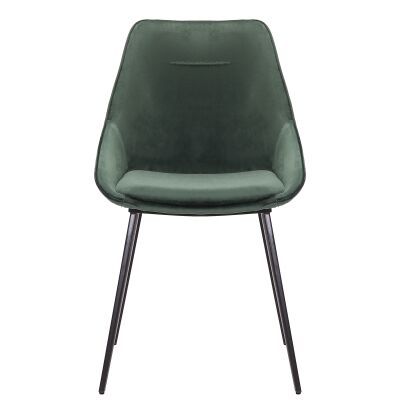 Bellagio Commercial Grade Velvet Fabric Dining Chair, Emerald