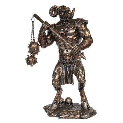 Veronese Cold Cast Bronze Coated Greek Mythology Figurine, Minotaur