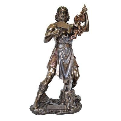 Veronese Cold Cast Bronze Coated Greek Mythology Figurine, Hephaestus