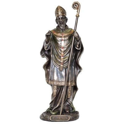 Veronese Cold Cast Bronze Coated Figurine, St. Patrick