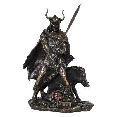 Veronese Cold Cast Bronze Coated Norse Mythology Figurine, Freyr