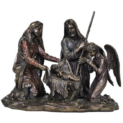Veronese Cold Cast Bronze Coated Figurine, Nativity