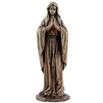 Veronese Cold Cast Bronze Coated Figurine, Mother Mary