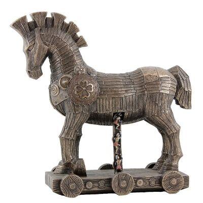 Cast Bronze Figurine of The Trojan Horse