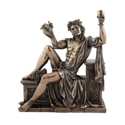 Veronese Cold Cast Bronze Coated Greek Mythology Figurine, Dionysus