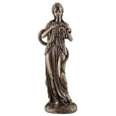 Veronese Cold Cast Bronze Coated Greek Mythology Figurine, Hygieia