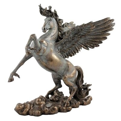 Cast Bronze Greek Mythology Figurine, Pegasus