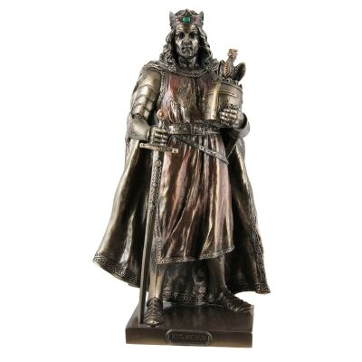 Cast Bronze Figurine of King Arthur