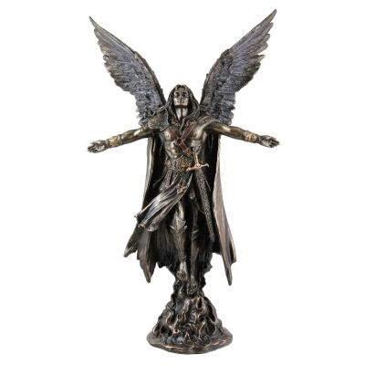 Cast Bronze Angel Figurine, Uriel, Archangel of Wisdom, Small