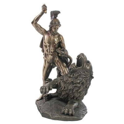 Cast Bronze Greek Mythology Figurine, Bellerophon