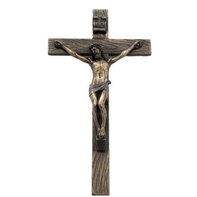 Veronese Cold Cast Bronze Coated Crucifixion Wall Decor