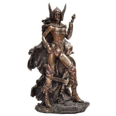 Veronese Cold Cast Bronze Coated Norse Mythology Figurine, Frigga