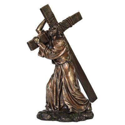 Veronese Cold Cast Bronze Coated Figurine, Calvary