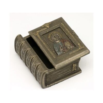 Veronese Cold Cast Bronze Coated Holy Bible Jewellery Box