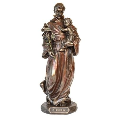 Veronese Cold Cast Bronze Coated Figurine, St Anthony