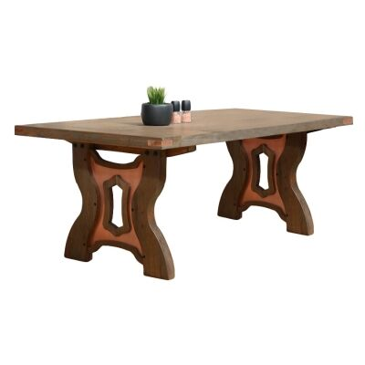 Avila Mountain Ash Timber Dining Table, 200cm