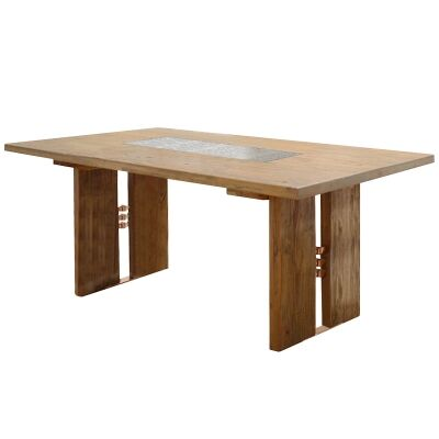 Marelos Mountain Ash Timber Dining Table, 210cm