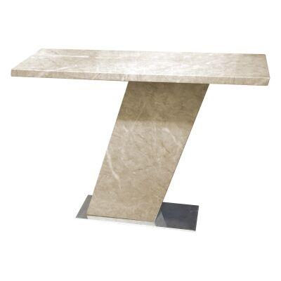 Miranda Marble Console Table, 130cm, Beige