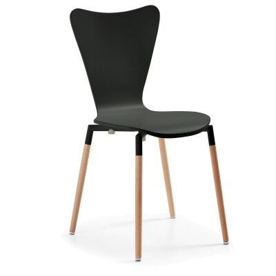 Ozana Timber Dining Chair, Black