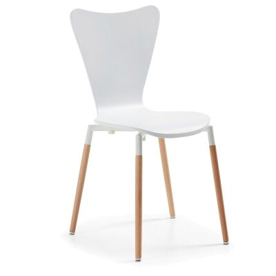 Ozana Timber Dining Chair, White