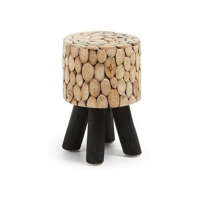 Carroun Solid Teak Timber Stool