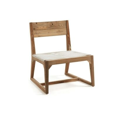 Elliott Solid Teak Timber Chair with Polyrattan Seat
