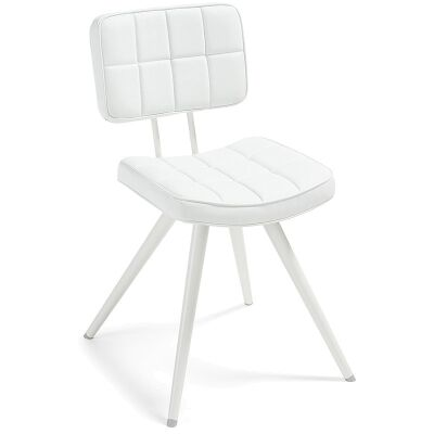 Rosina PU Leather Side Chair, White
