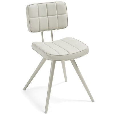Rosina PU Leather Side Chair, Pearl