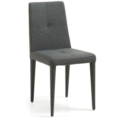 Leopold Fabric Dining Chairs - Dark Grey