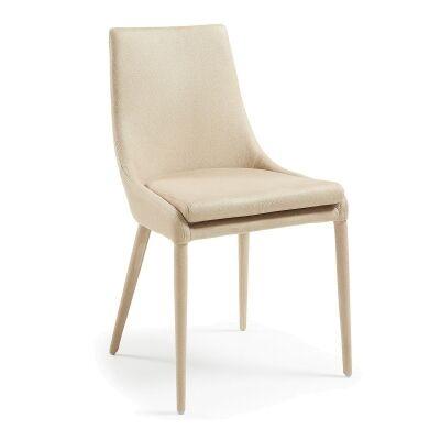 Petiver Nubuck Fabric Dining Chair, Beige