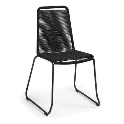 Balliol Stackable Indoor / Outdoor Dining Chair, Black
